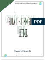 Manual de Elaboracion de Paginas Web HTML