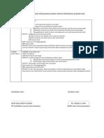 Format Penulisan Rancangan Pengajaran Harian Panitia Pendidikan Jasmani Dan Kesihatan
