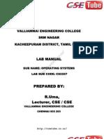 Cs2257 SS Lab Manual