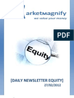 Daily Stock Market Report by Market Magnify 27-02-2012