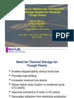 Parabolic Trough Solar Plants