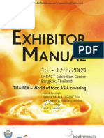 World of Food Asia 2009 - THAIFEX A4 Exhibitor Manual - International) FULL VERSION Reduced