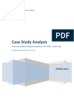 American Hospital Supply Corporation case study-Partha