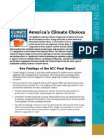 America's Climate Choices 2011 ACC Final Report Key Findings