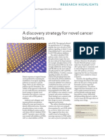 A Discovery Strategy for Novel Cancer