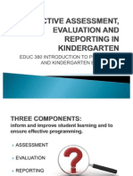 9-Effective Assessment, Evaluation and Reporting in Kindergarten