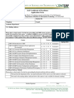 SAP Certificate Form