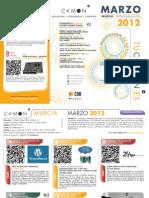 CAMON Murcia. Programación Marzo 2012. Obra Social. CAM