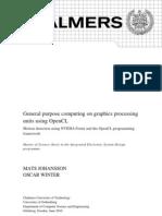 General Purpose Computing on Graphics Processing