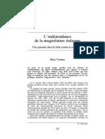 L'indépendance de la magistrature italienne