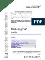 Marketing Plan Checklist