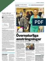 """""""Falsk tillväxt och fyrverkerier"""", krönika för LO-tidningen"""