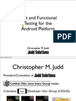 Unit and Functional Testing for Android Platform