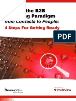 Shifting the B2B Marketing Paradigm From Contacts to People - 4 Steps for Getting Ready