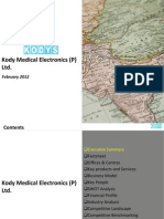 Market Research Report :Kody Medical Electronics