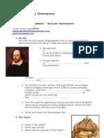 William Shakespeare - Web Quest