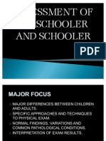 Assessment of Preschooler and Schooler
