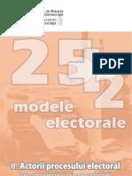 25plus2 Modele Elector Ale II Actorii Procesului Electoral