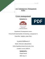 Crisis Management Report