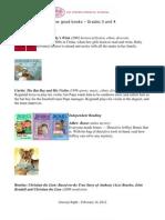 Reading Lists Grade 3-4