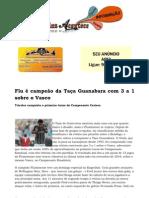 Flu é campeão da Taça Guanabara com 3 a 1 sobre o Vasco