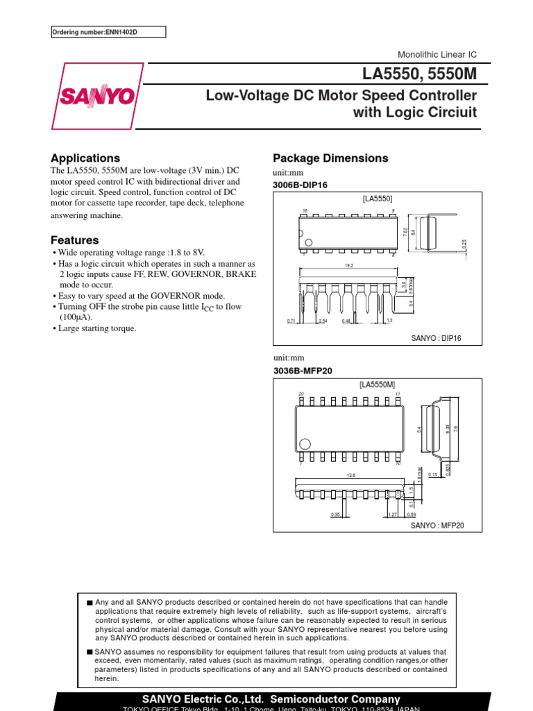 La 5550 Electric Motor Electronics Speed Controller Circuit That Can Be Used For Varying The
