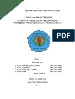 Harga transfer dan sistem pengendalian manajemen pada perusahaan MNC