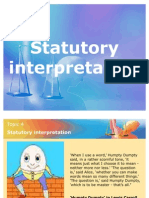 Statutory Interpretation - Daw