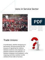 Trade Unions in Service Sector - Group 9
