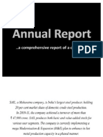 Annual Report Analysis (SAIL)