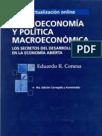 Macroeconomia y politica macroeconomica, eduardo conesa