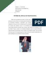 Informe Sobre Telefonia Movil