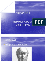 HIPOKRAT I HIPOKRATOVA ZAKLETVA