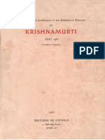 Krishnamurti à Ojaï (Californie, U. S. A.) en 1936
