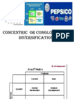 Concentric or Conglomerate Diversification