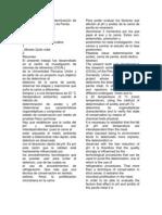 Comportamiento y Determinación de Acidez  y pH  en Carne de Pavita