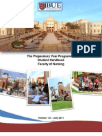The Preparatory Year Programme Student Handbook_Nursing_1.0_August_2011