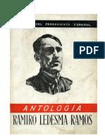 Ramiro Ledesma Ramos. Antología de textos