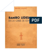 Ramiro Ledesma en la crisis de España. Emiliano Aguado