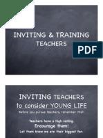 Inviting & Training Teachers