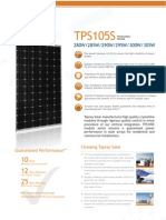 Topray TPS105S 280W305W Product Catalogue En