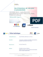 Intentions de vote Présidentielle 2012 V11 - 28/2/2012