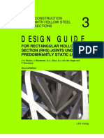 [CIDECT DG3] -- Design Guide for Rectangular Hollow Section (RHS) Joints Under Predominantly Static Loading