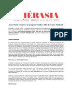 AmérAsia programmation 2012 de son festival
