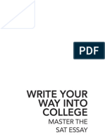 Write Your Way Into College - SAT Essay