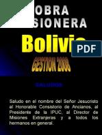 Informe Misionero de La Obra en Bolivia - Noviembre de 2008