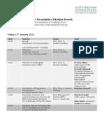 2011-12 MSc Foundation Studies Programme