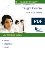 F6 Taxation (FA07) Course Slides BPP