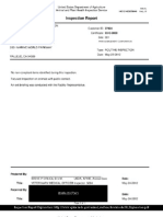 USDA-APHIS Inspection Reports