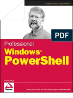 Professional Windows Power Shell